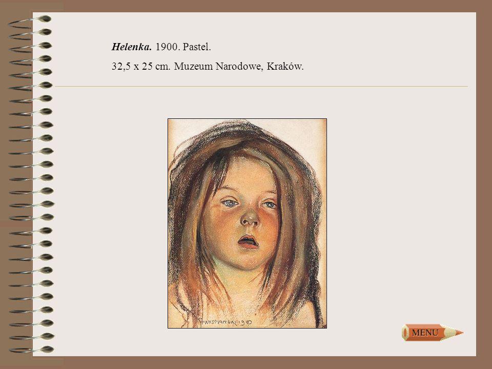 Helenka. 1900. Pastel. 32,5 x 25 cm. Muzeum Narodowe, Kraków.