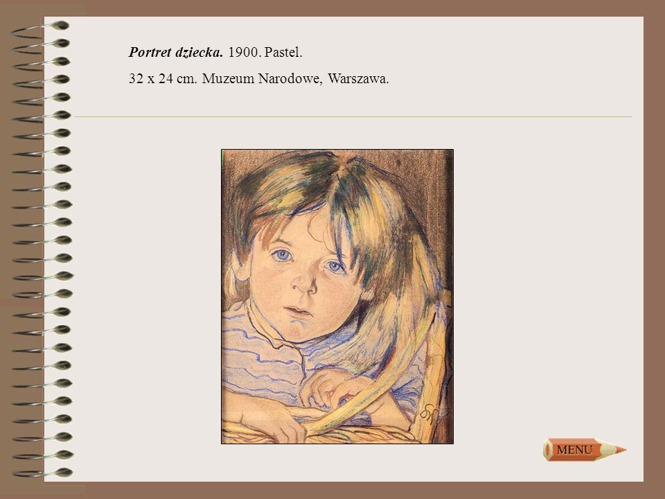 Portret dziecka. 1900. Pastel.