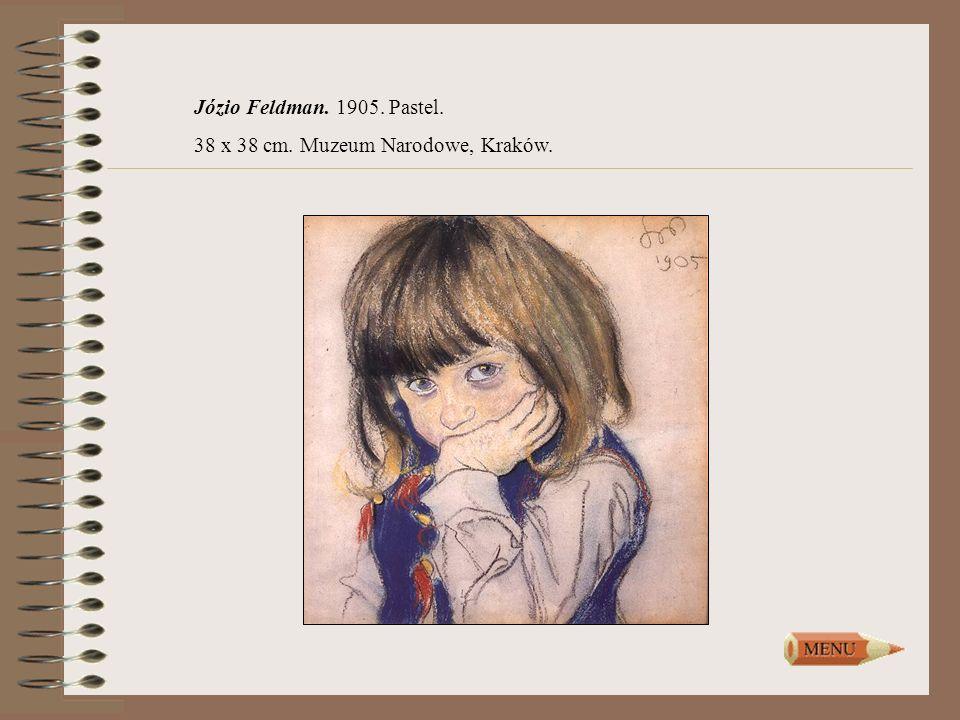Józio Feldman. 1905. Pastel. 38 x 38 cm. Muzeum Narodowe, Kraków.