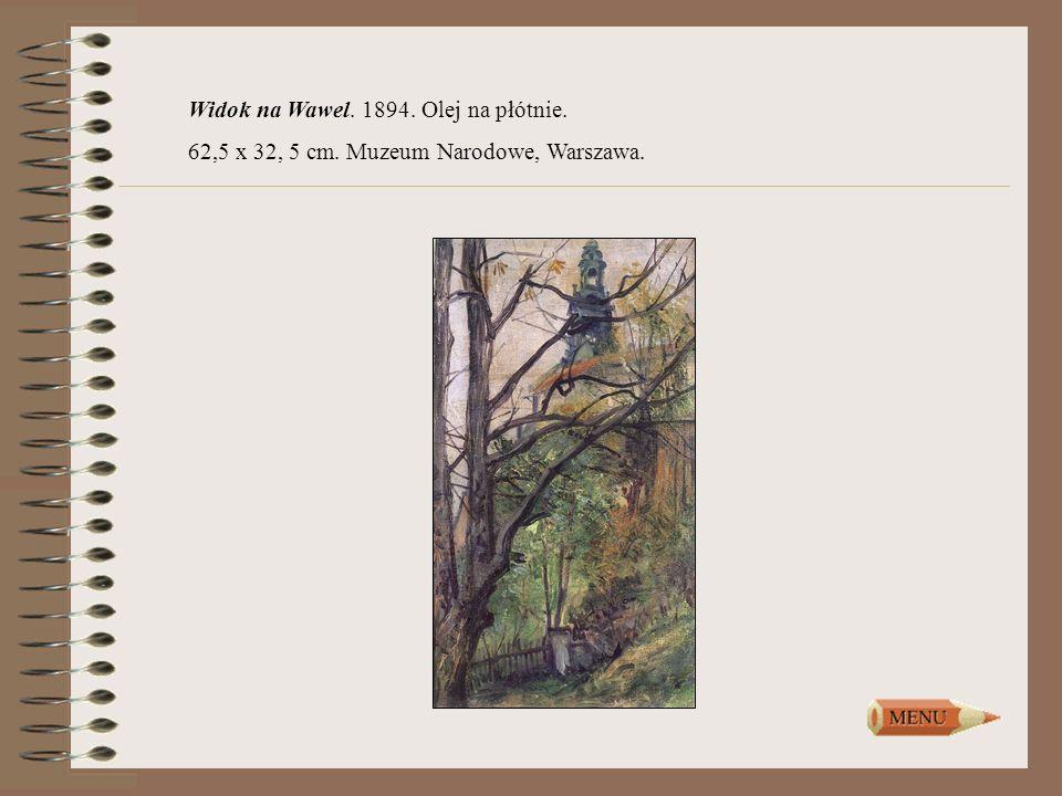 Widok na Wawel. 1894. Olej na płótnie.