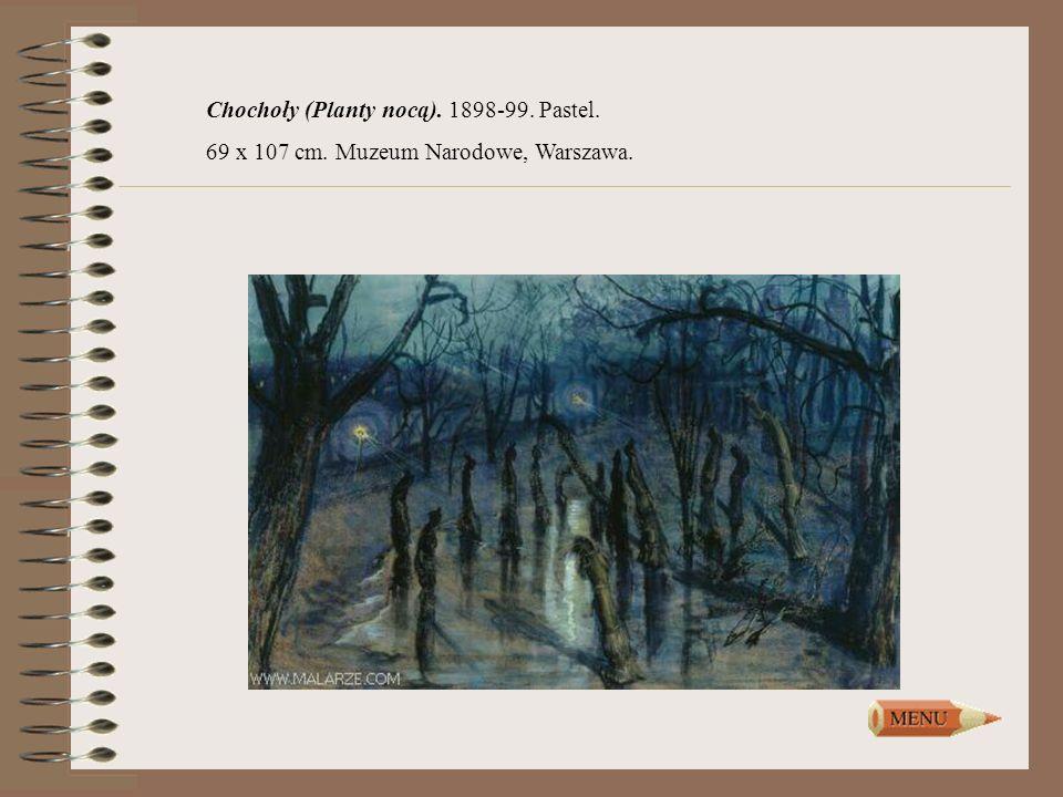 Chochoły (Planty nocą). 1898-99. Pastel.