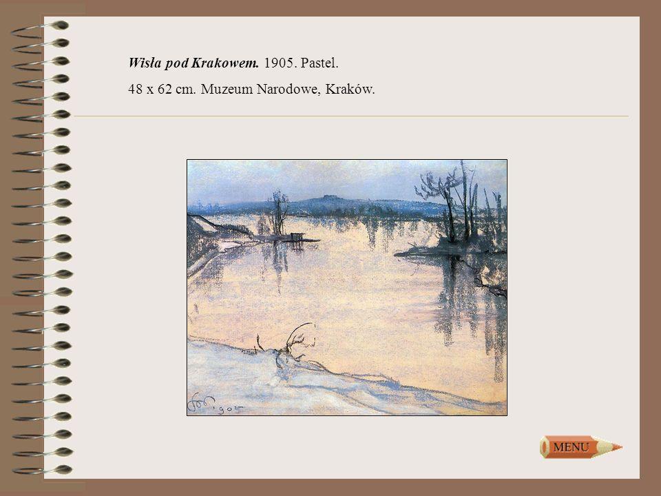 Wisła pod Krakowem. 1905. Pastel.