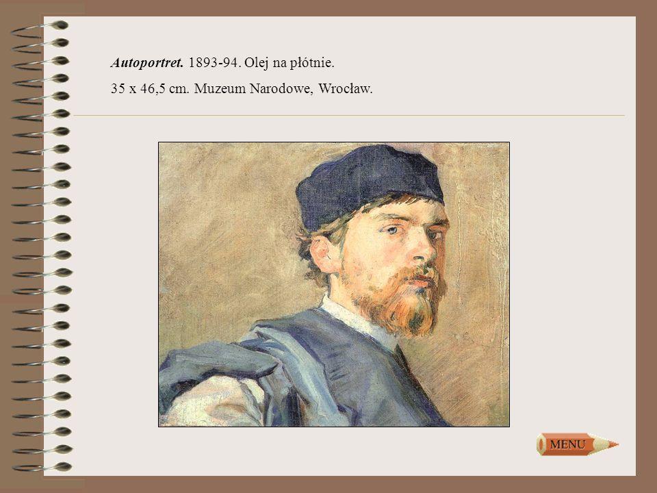 Autoportret. 1893-94. Olej na płótnie.