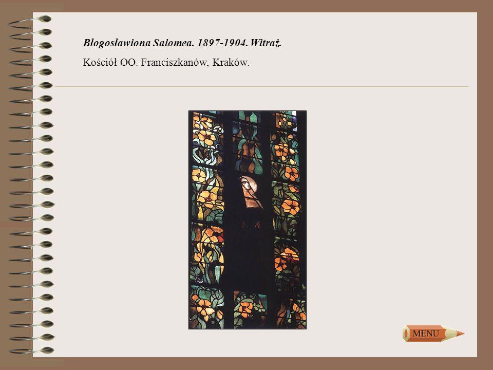 Błogosławiona Salomea. 1897-1904. Witraż.