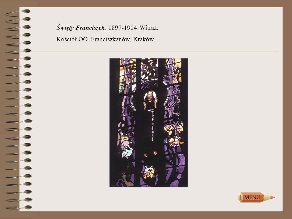 Święty Franciszek. 1897-1904. Witraż.