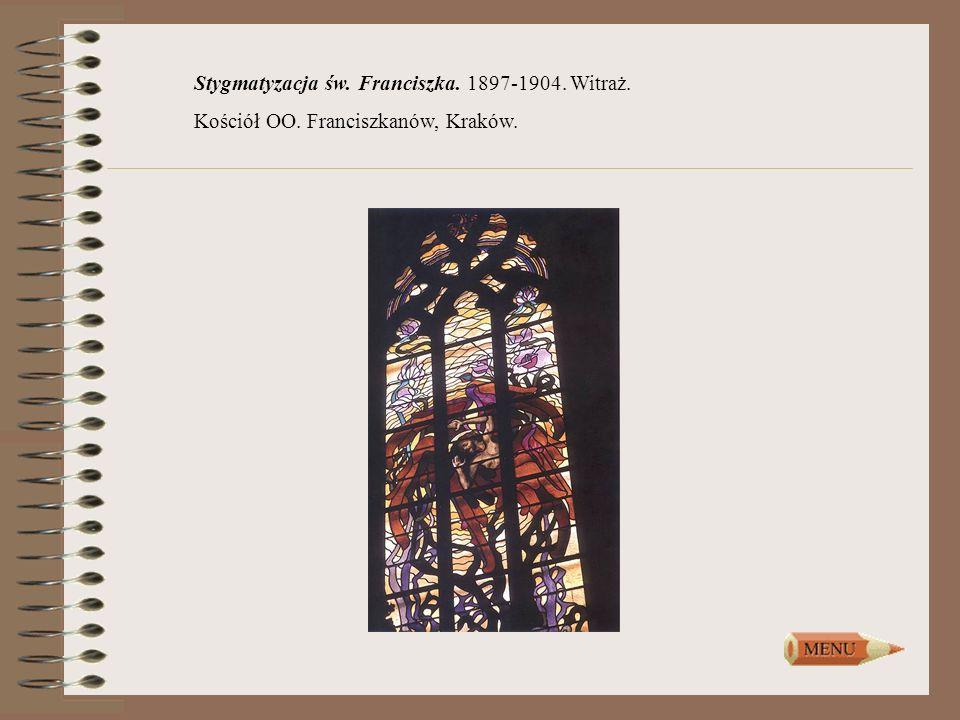 Stygmatyzacja św. Franciszka. 1897-1904. Witraż.
