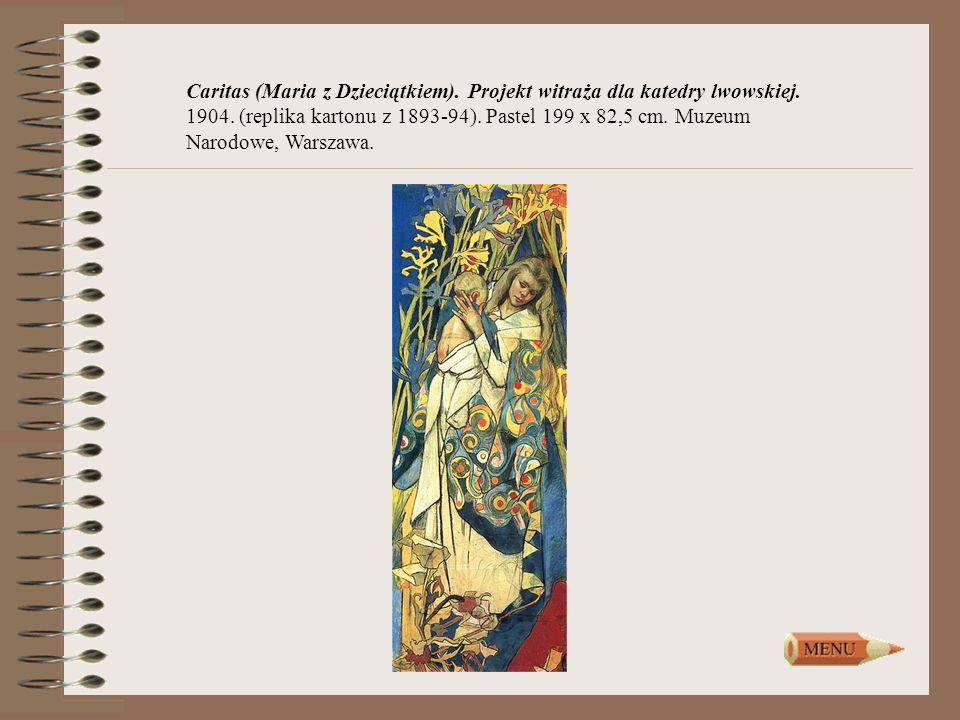 Caritas (Maria z Dzieciątkiem). Projekt witraża dla katedry lwowskiej