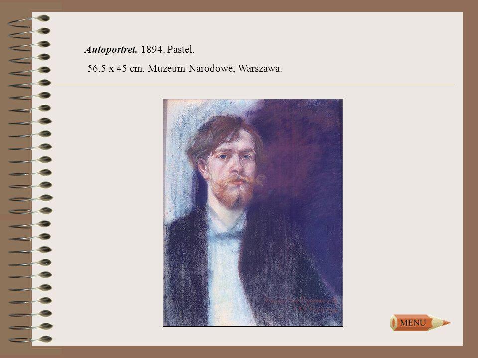 Autoportret. 1894. Pastel. 56,5 x 45 cm. Muzeum Narodowe, Warszawa.