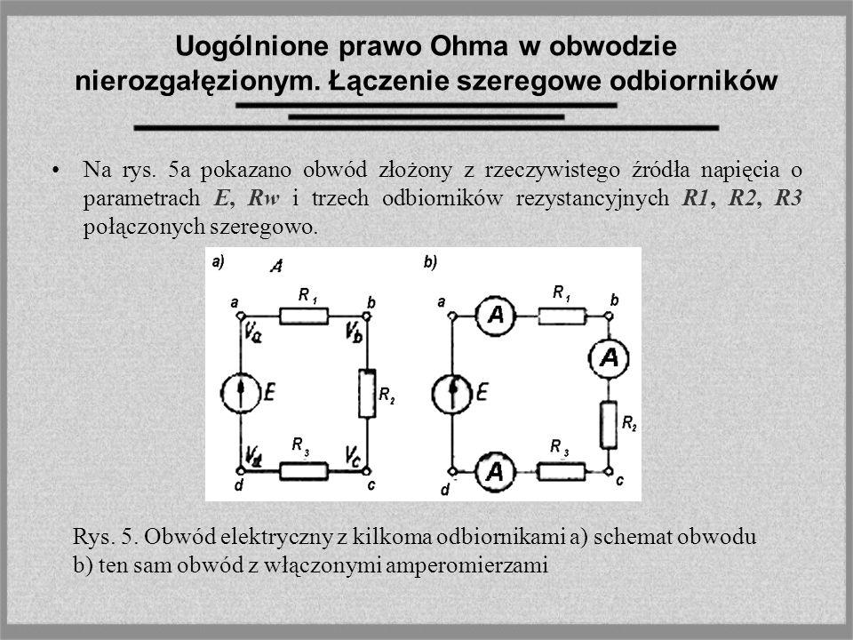 Uogólnione prawo Ohma w obwodzie nierozgałęzionym