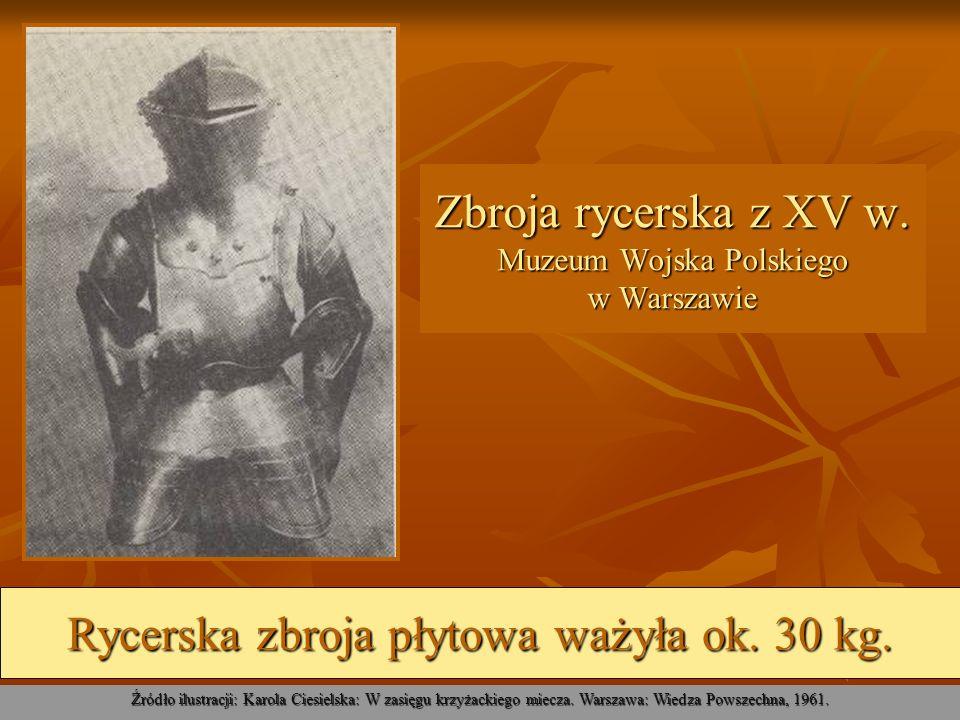 Zbroja rycerska z XV w. Muzeum Wojska Polskiego w Warszawie