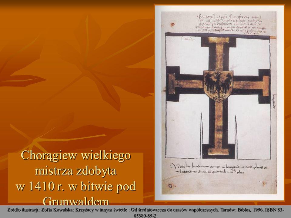 Chorągiew wielkiego mistrza zdobyta w 1410 r. w bitwie pod Grunwaldem