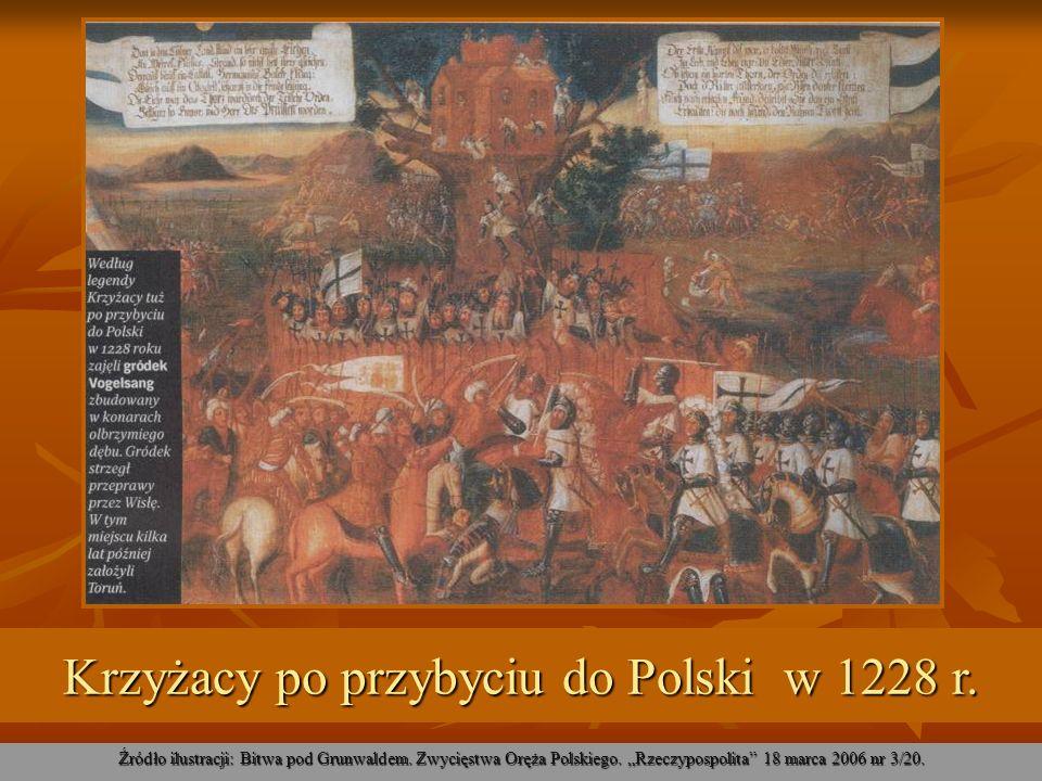 Krzyżacy po przybyciu do Polski w 1228 r.