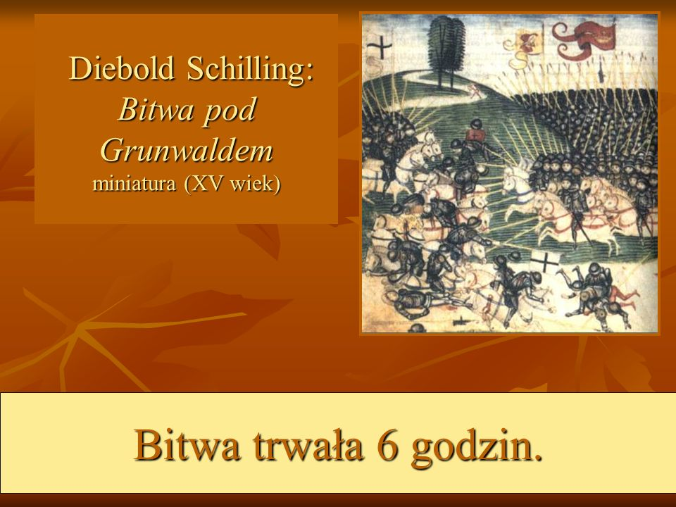 Diebold Schilling: Bitwa pod Grunwaldem miniatura (XV wiek)
