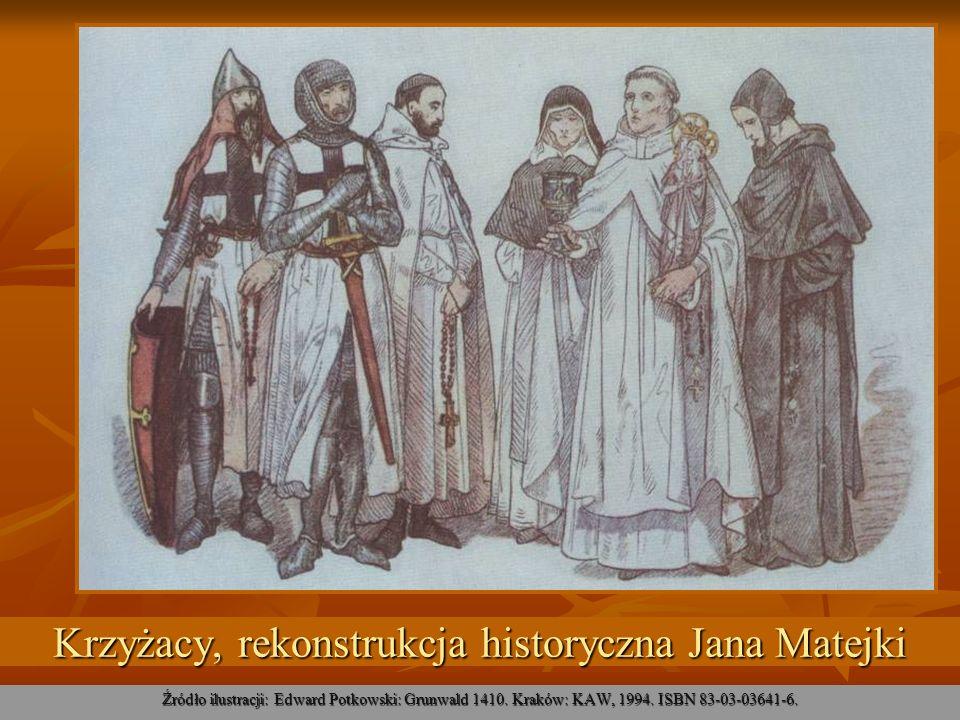 Krzyżacy, rekonstrukcja historyczna Jana Matejki