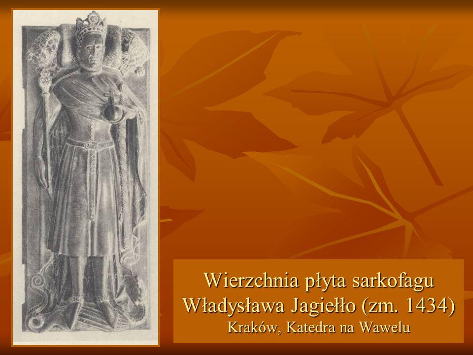 Wierzchnia płyta sarkofagu Władysława Jagiełło (zm