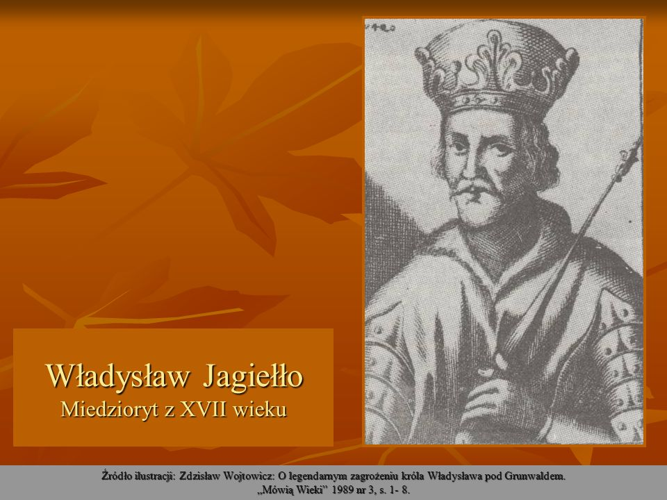 Władysław Jagiełło Miedzioryt z XVII wieku