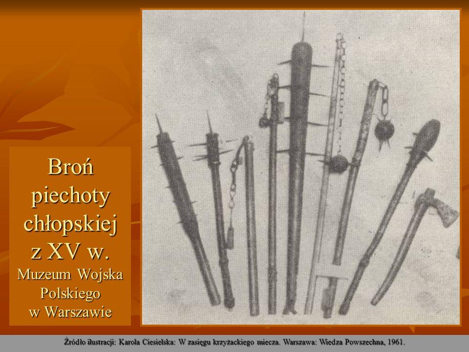 Broń piechoty chłopskiej z XV w. Muzeum Wojska Polskiego w Warszawie