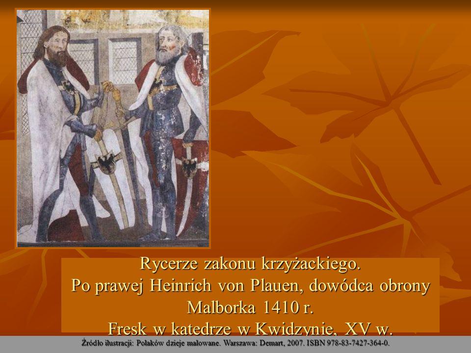 Rycerze zakonu krzyżackiego