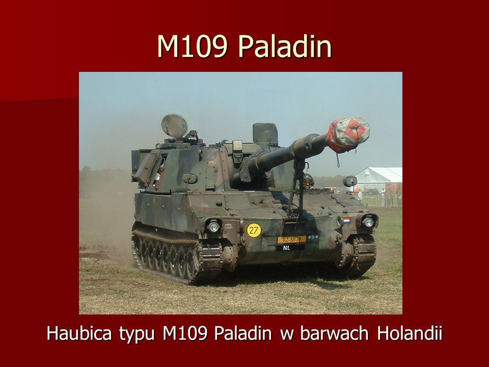 Haubica typu M109 Paladin w barwach Holandii
