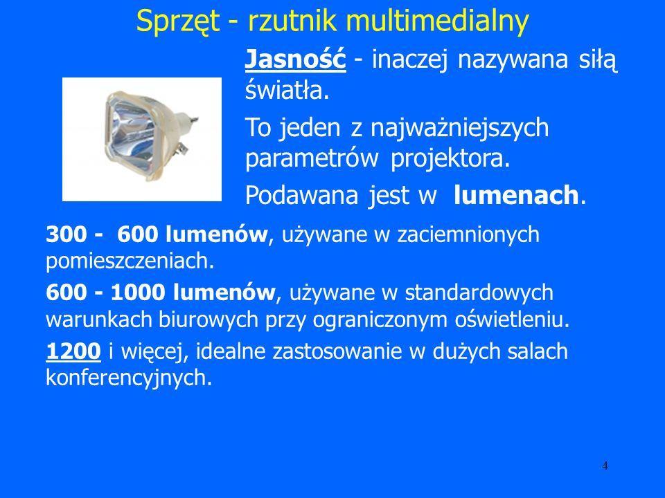 Sprzęt - rzutnik multimedialny