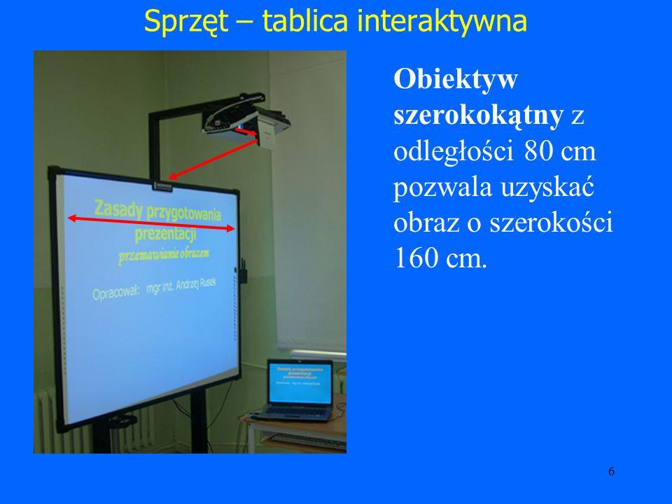Sprzęt – tablica interaktywna