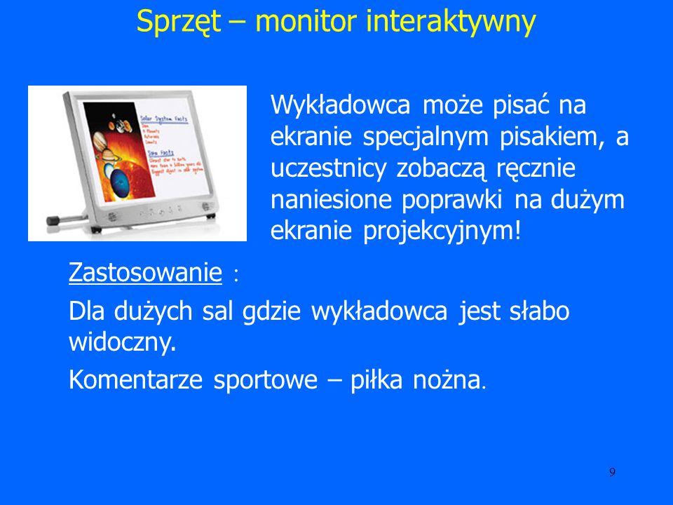 Sprzęt – monitor interaktywny