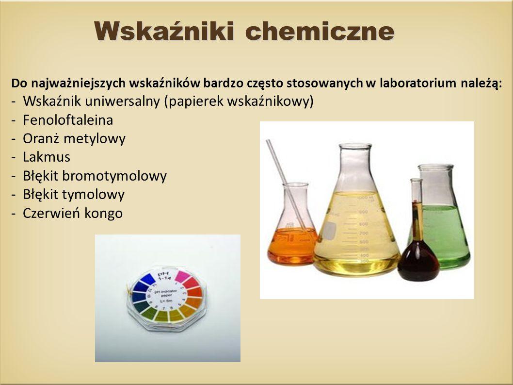 Wskaźniki chemiczne - Wskaźnik uniwersalny (papierek wskaźnikowy)