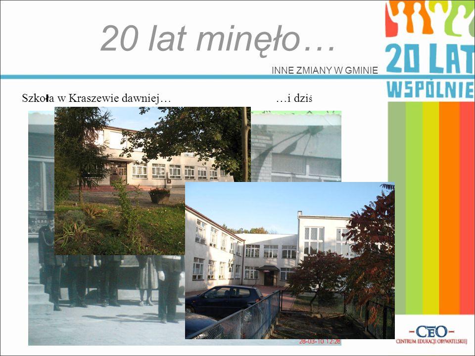 20 lat minęło… Szkoła w Kraszewie dawniej… …i dziś