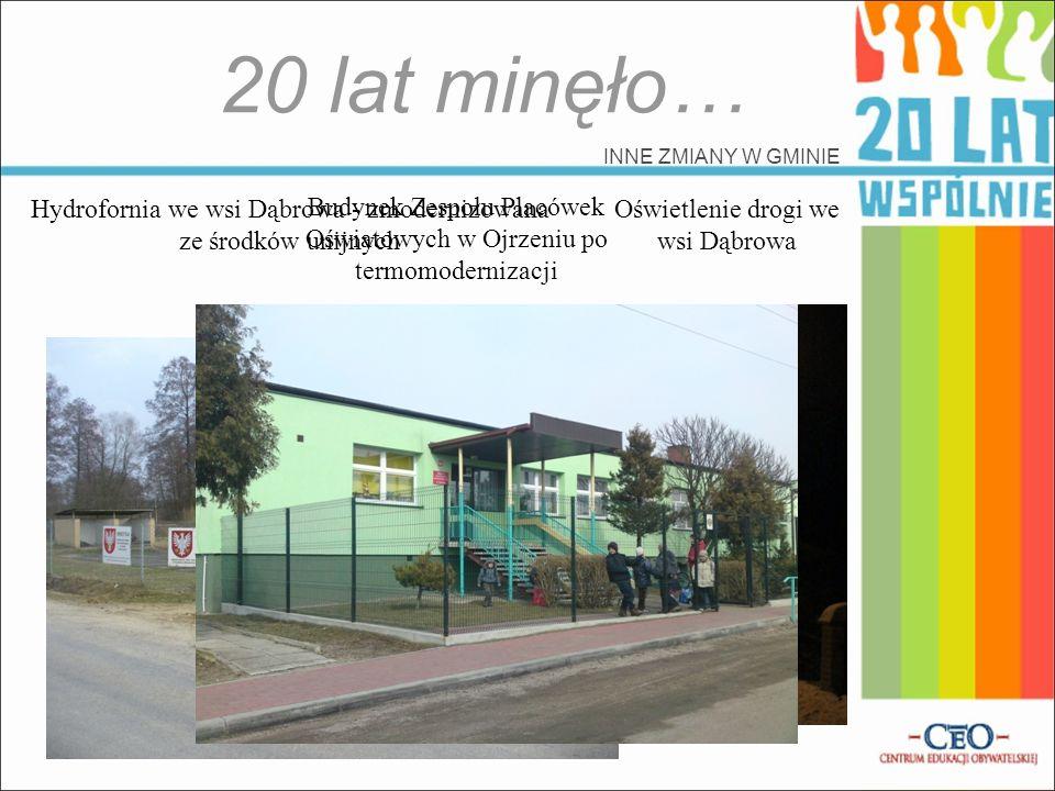 20 lat minęło… INNE ZMIANY W GMINIE. Hydrofornia we wsi Dąbrowa - zmodernizowana ze środków unijnych.