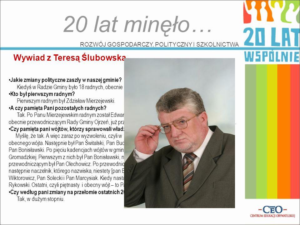 20 lat minęło… Wywiad z Teresą Ślubowską