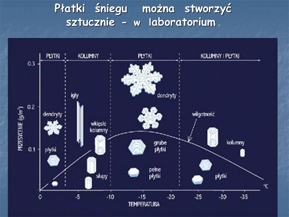 Płatki śniegu można stworzyć