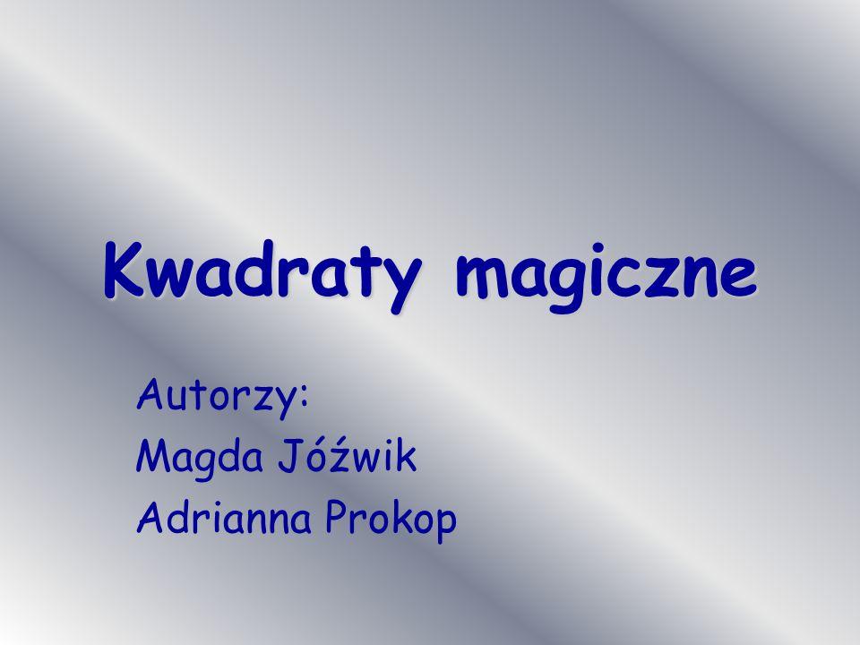 Autorzy: Magda Jóźwik Adrianna Prokop