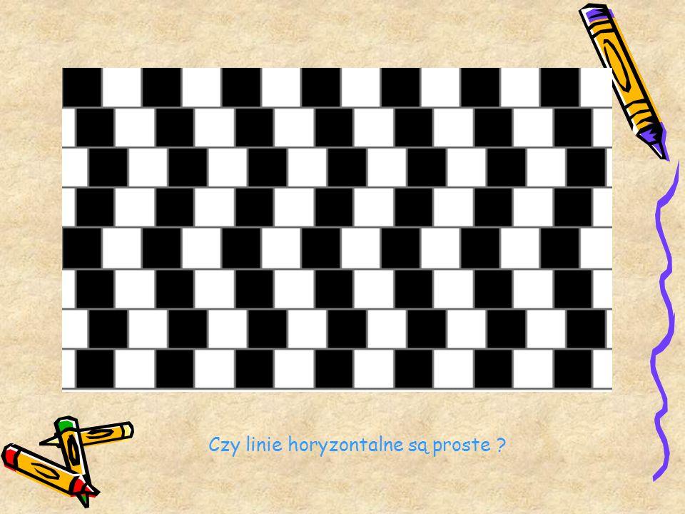 Czy linie horyzontalne są proste
