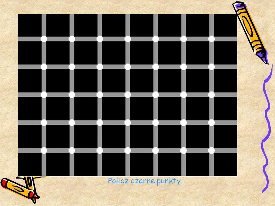 Policz czarne punkty.
