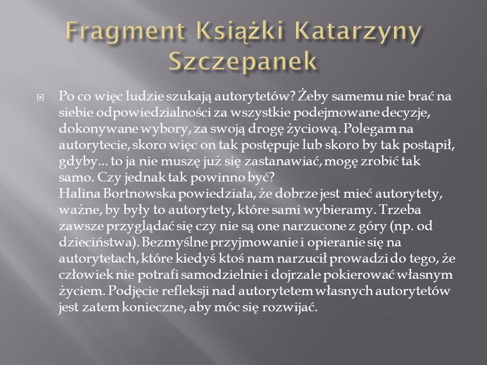 Fragment Książki Katarzyny Szczepanek