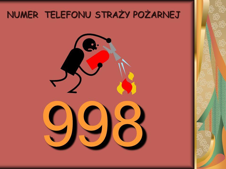NUMER TELEFONU STRAŻY POŻARNEJ