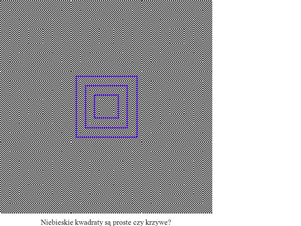 Niebieskie kwadraty są proste czy krzywe
