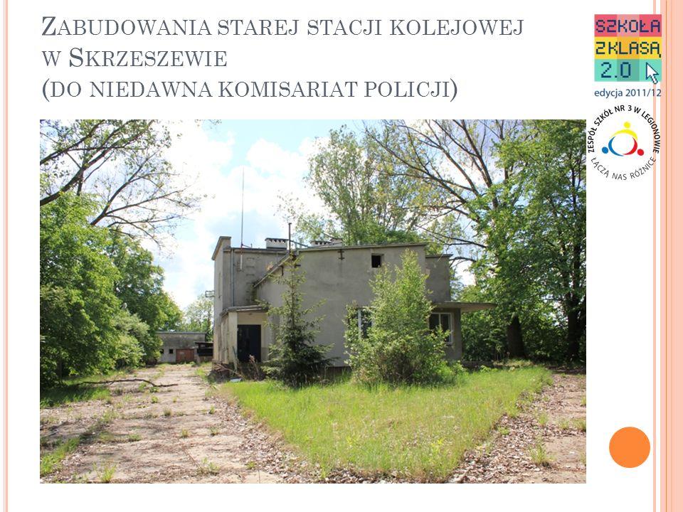 Zabudowania starej stacji kolejowej w Skrzeszewie (do niedawna komisariat policji)