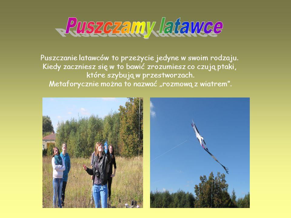 Puszczamy latawce Puszczanie latawców to przeżycie jedyne w swoim rodzaju. Kiedy zaczniesz się w to bawić zrozumiesz co czują ptaki,