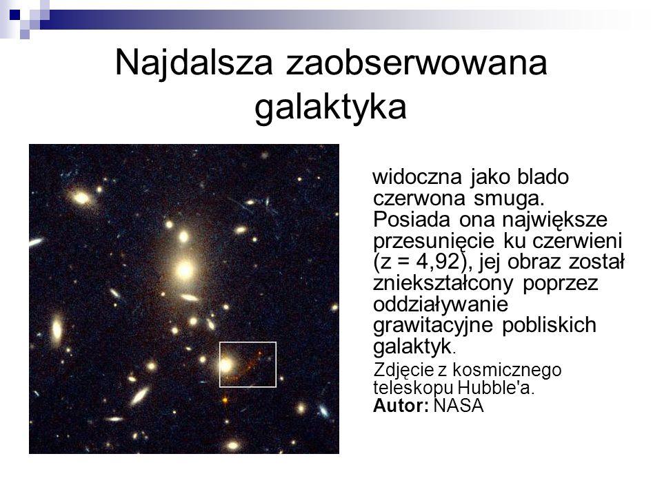 Najdalsza zaobserwowana galaktyka