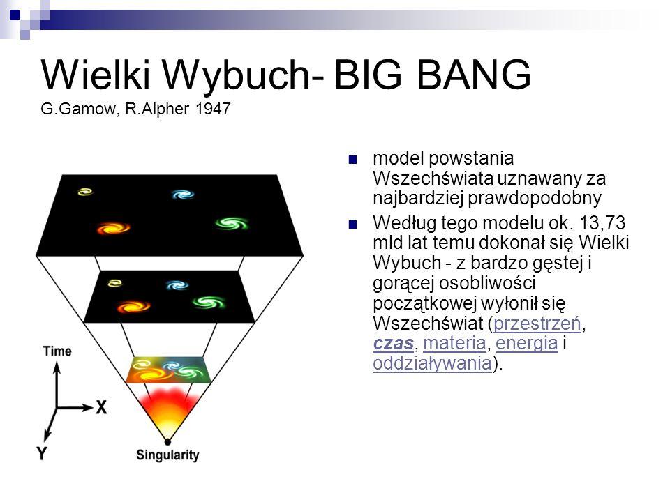 Wielki Wybuch- BIG BANG G.Gamow, R.Alpher 1947