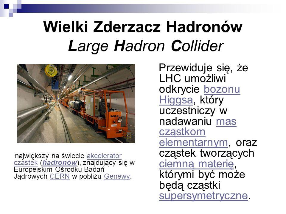 Wielki Zderzacz Hadronów Large Hadron Collider