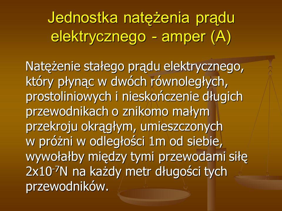 Jednostka natężenia prądu elektrycznego - amper (A)