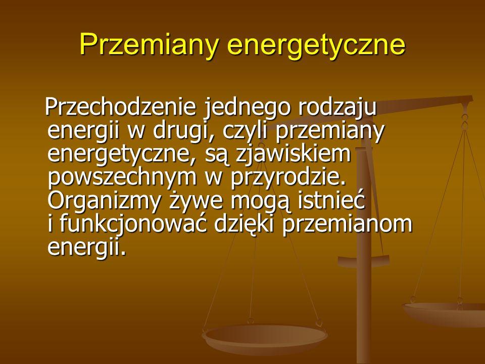 Przemiany energetyczne