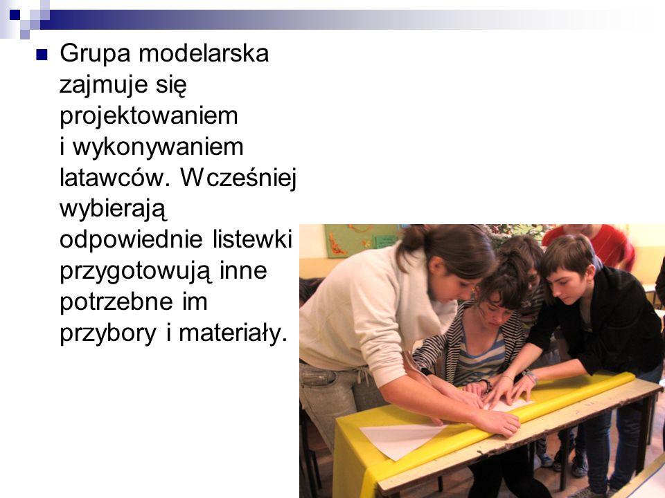 Grupa modelarska zajmuje się projektowaniem i wykonywaniem latawców