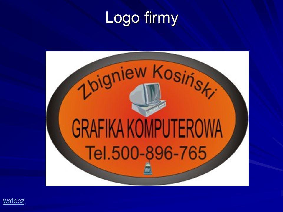 Logo firmy wstecz
