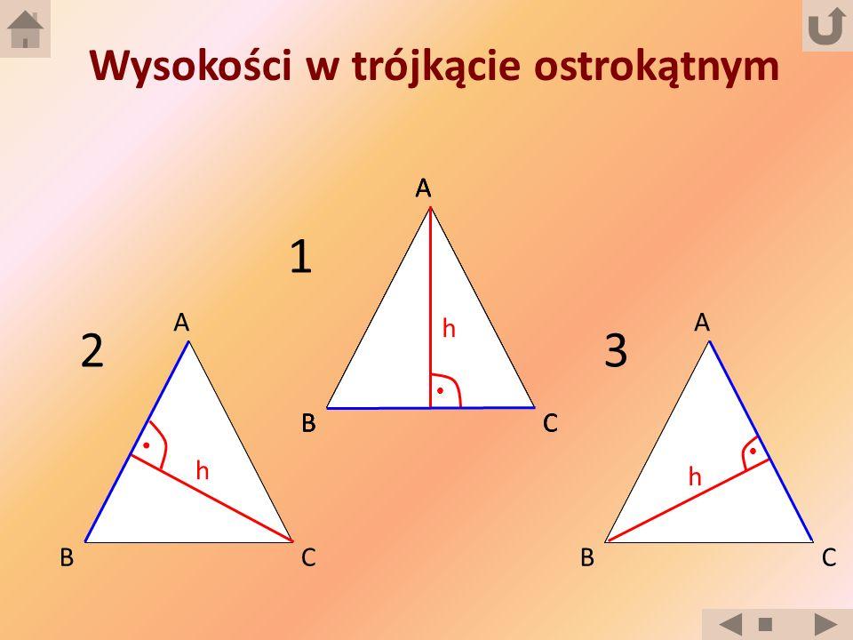Wysokości w trójkącie ostrokątnym