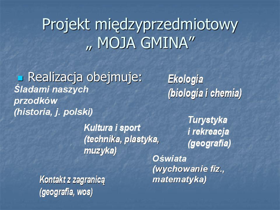 """Projekt międzyprzedmiotowy """" MOJA GMINA"""