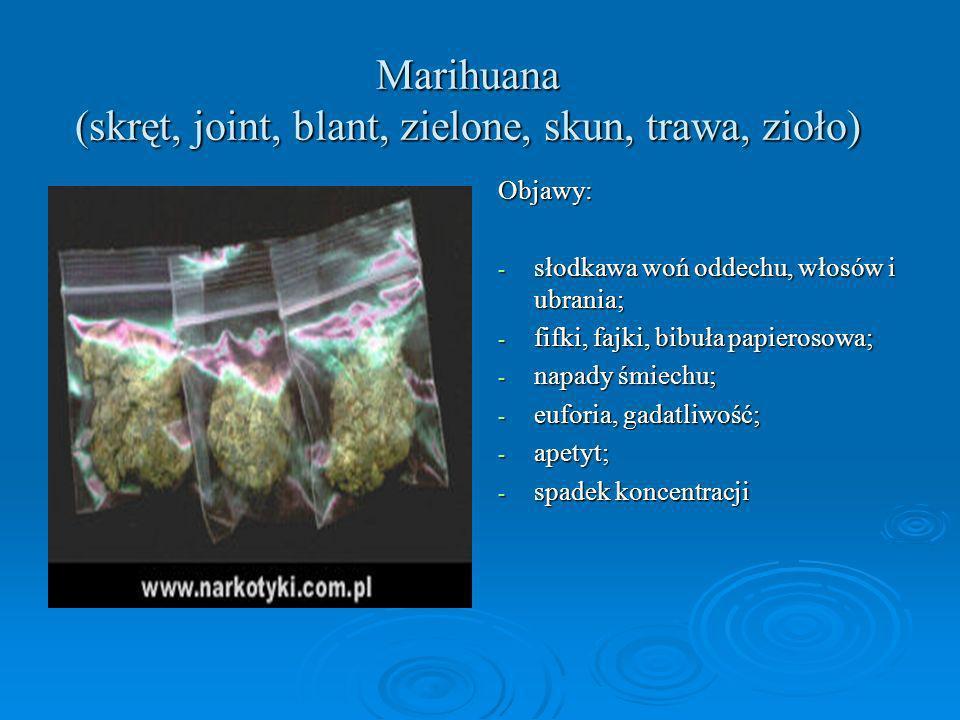 Marihuana (skręt, joint, blant, zielone, skun, trawa, zioło)