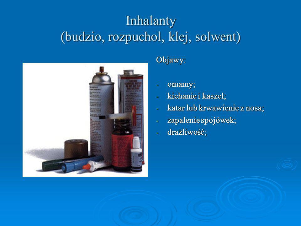 Inhalanty (budzio, rozpuchol, klej, solwent)
